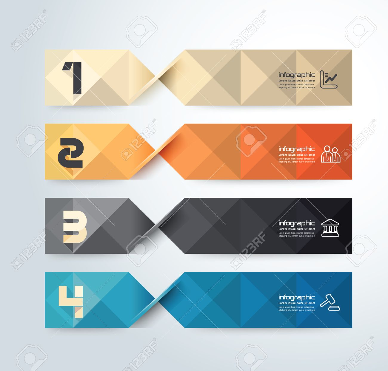Modern geometric graph Design infographic template.can be used for infographics .graphic or website layout vector Stock Vector - 25434826