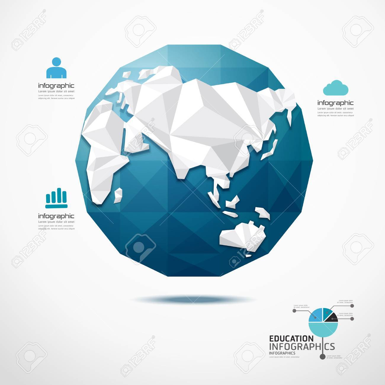 Globe world map illustration infographics geometric concept design globe world map illustration infographics geometric concept design stock vector 27328382 gumiabroncs Image collections