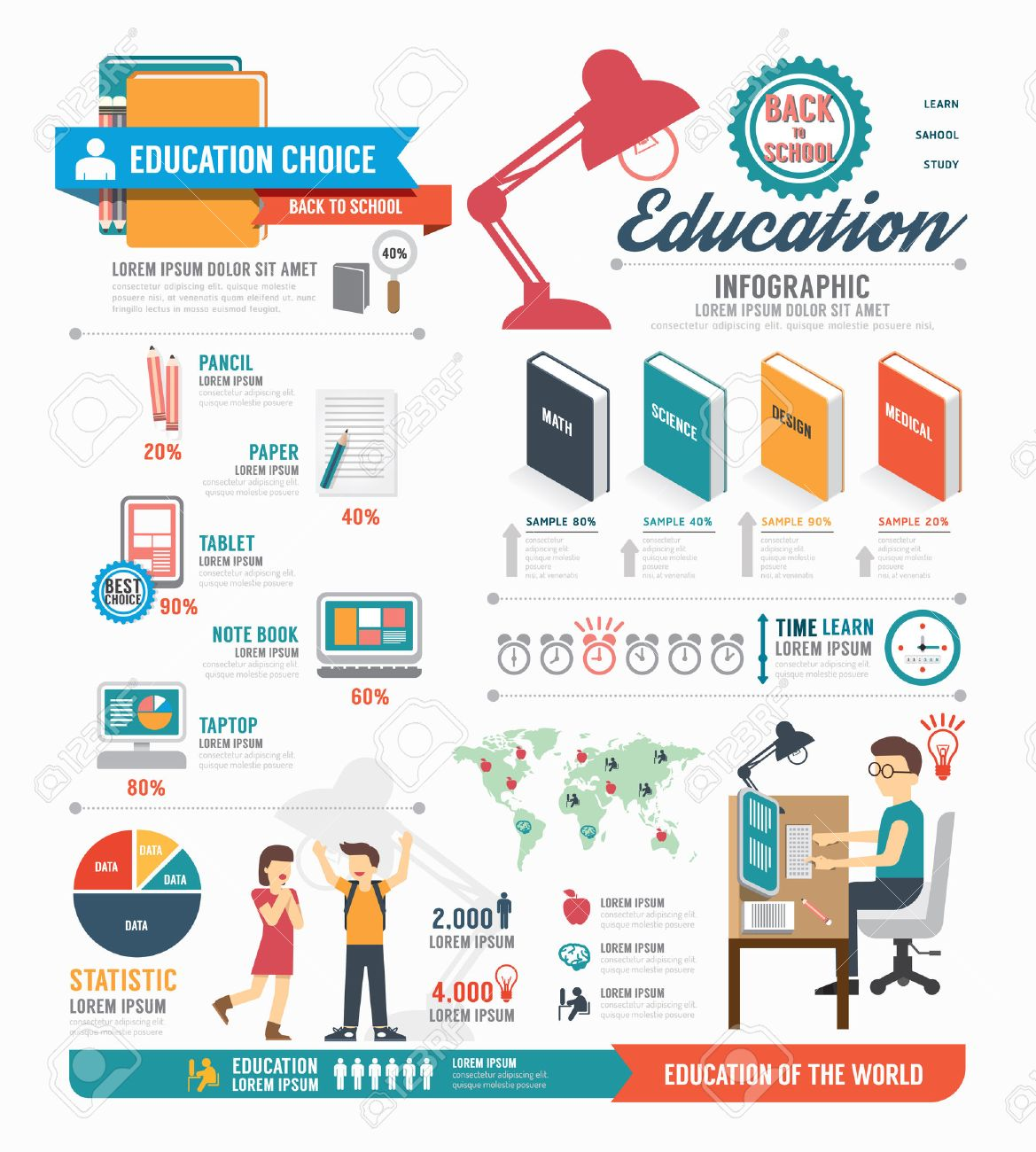 Infographic education template design . concept vector illustration Stock Vector - 29466293