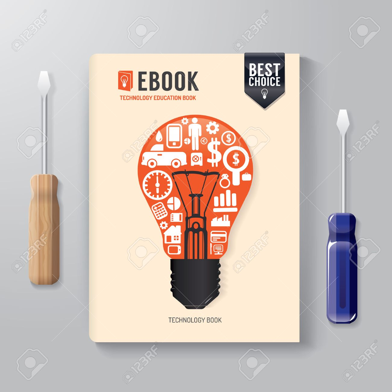 cover book digital design template technology concept can be