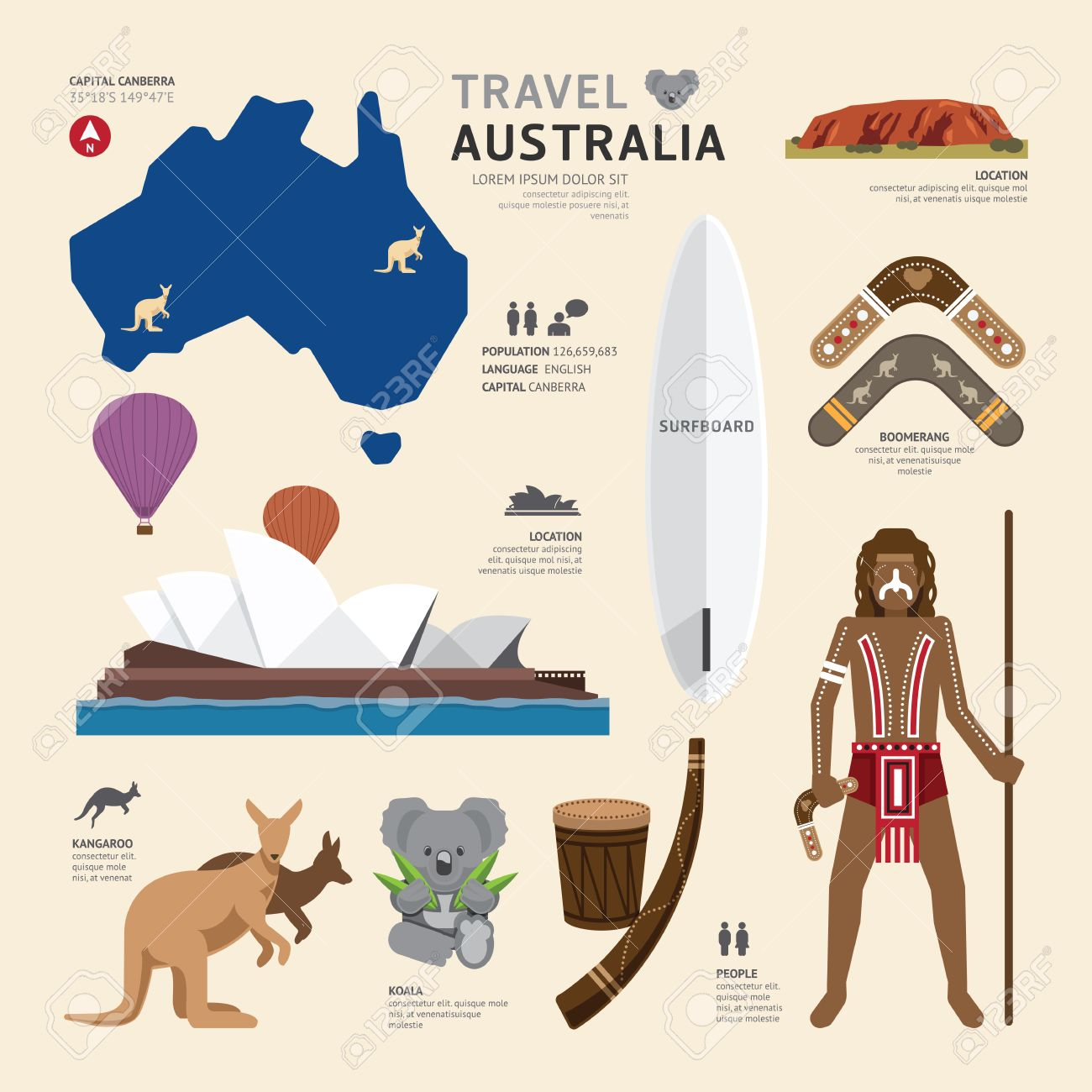 620 Australia Boomerang Stock Illustrations, Cliparts And Royalty ...