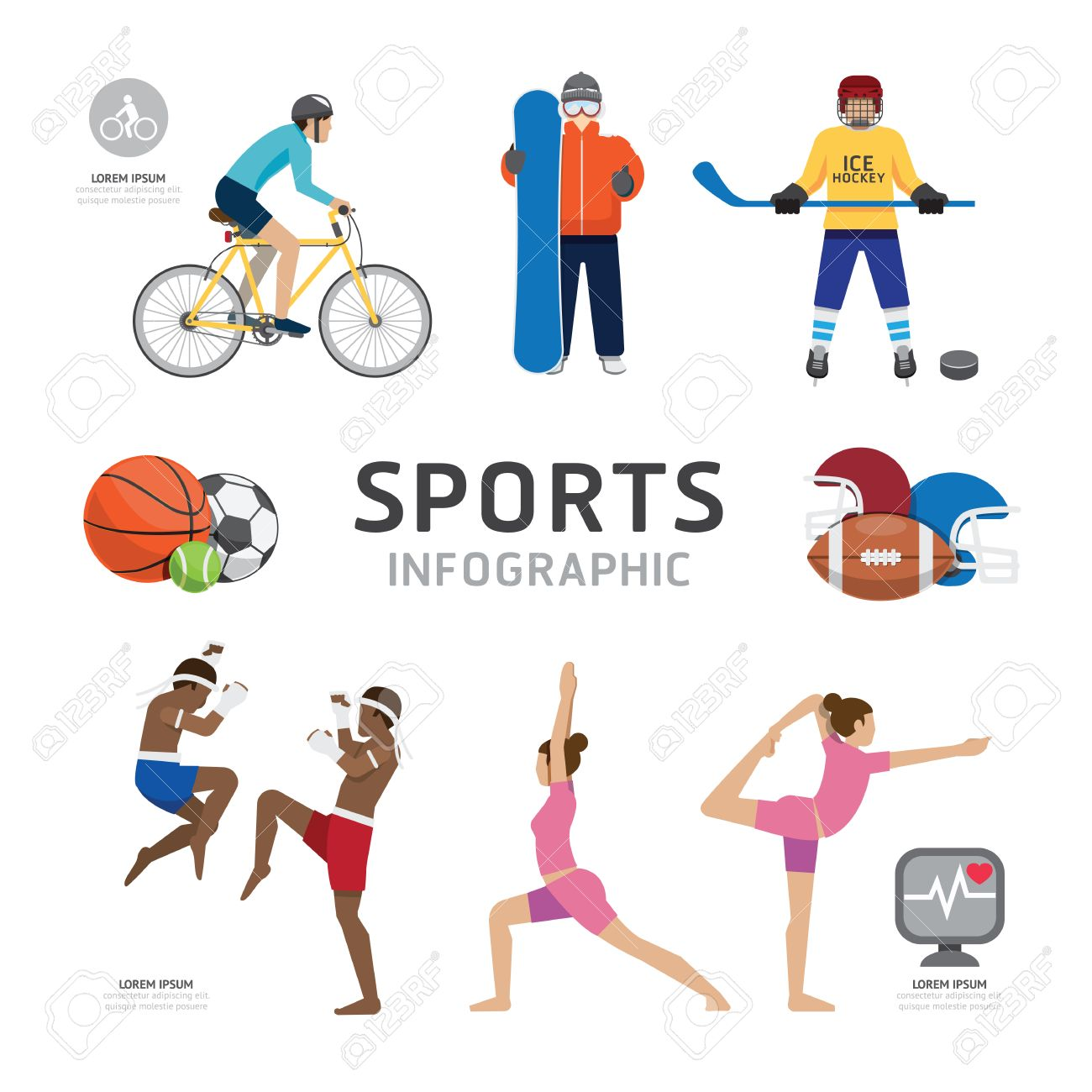 Free infographics templates for sports