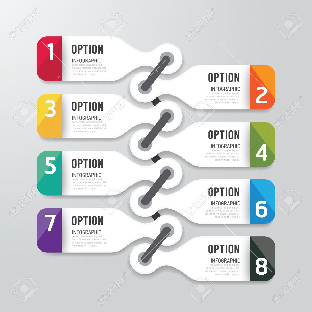 modern infographics design options banner vector illustration