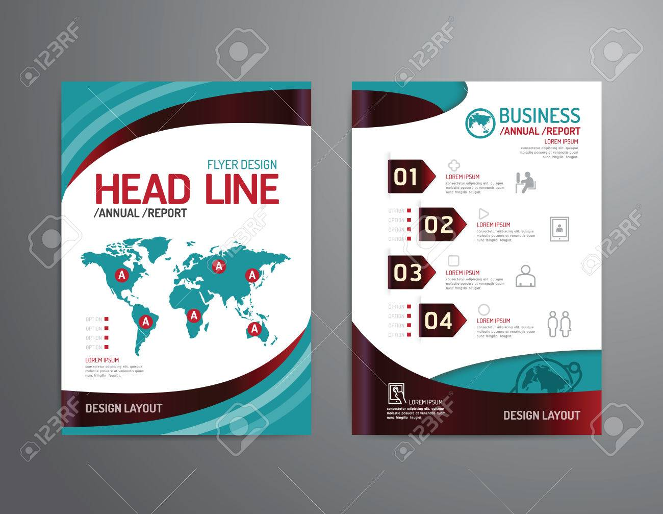 Poster design business - Vector Brochure Flyer Magazine Cover Booklet Poster Design Template Layout Business Technology Annual