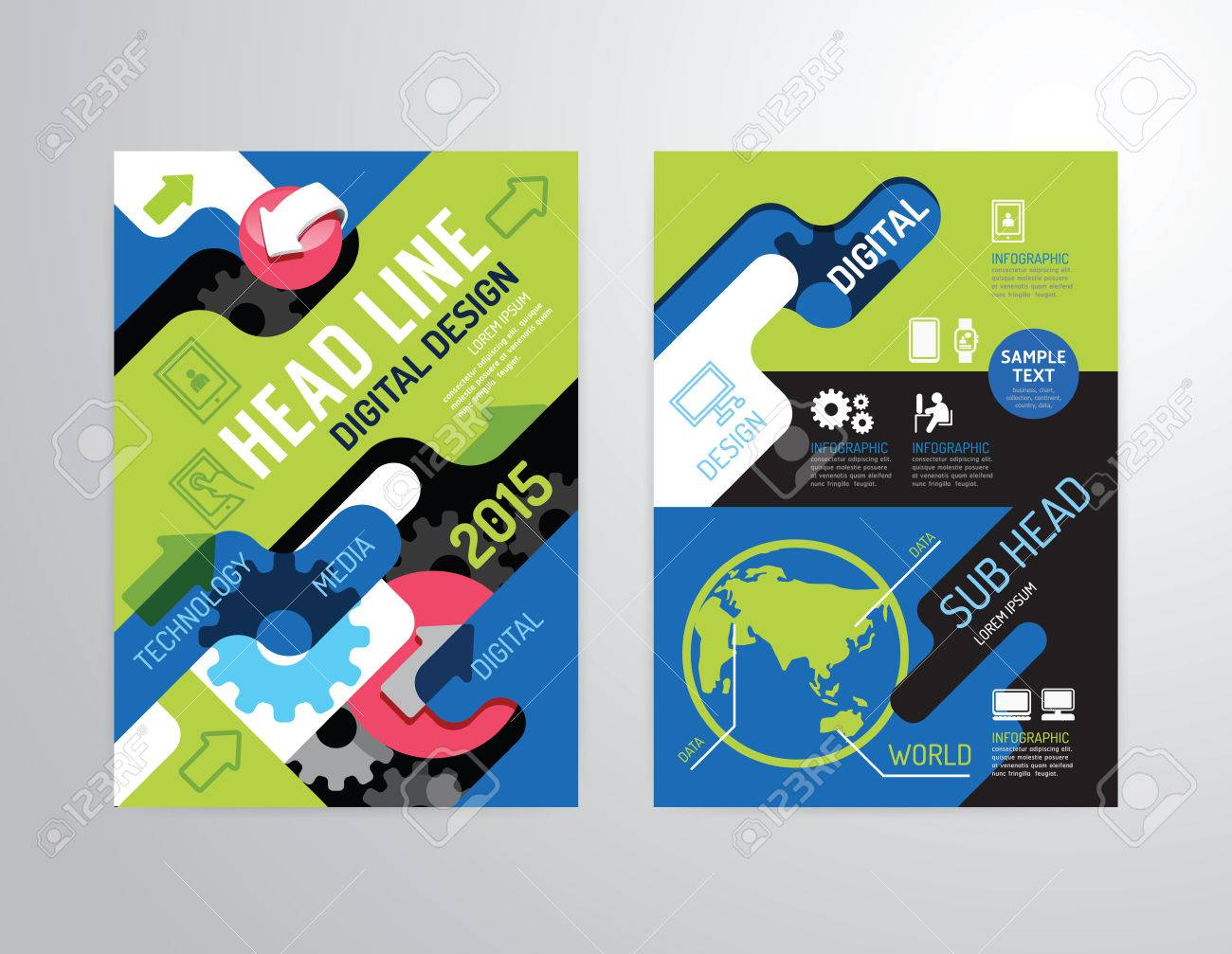 Poster design vector graphics - Vector Vector Brochure Flyer Magazine Cover Booklet Poster Design Template Layout Business Industry Property Annual Report A4 Size