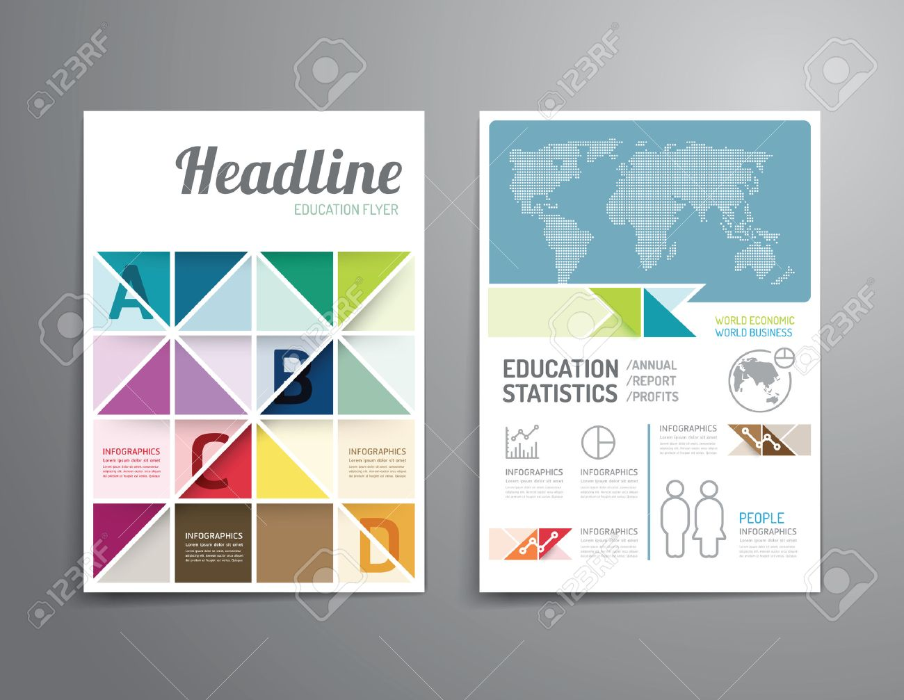 vector brochure flyer magazine cover booklet poster design vector vector brochure flyer magazine cover booklet poster design template layout education annual report a4 size