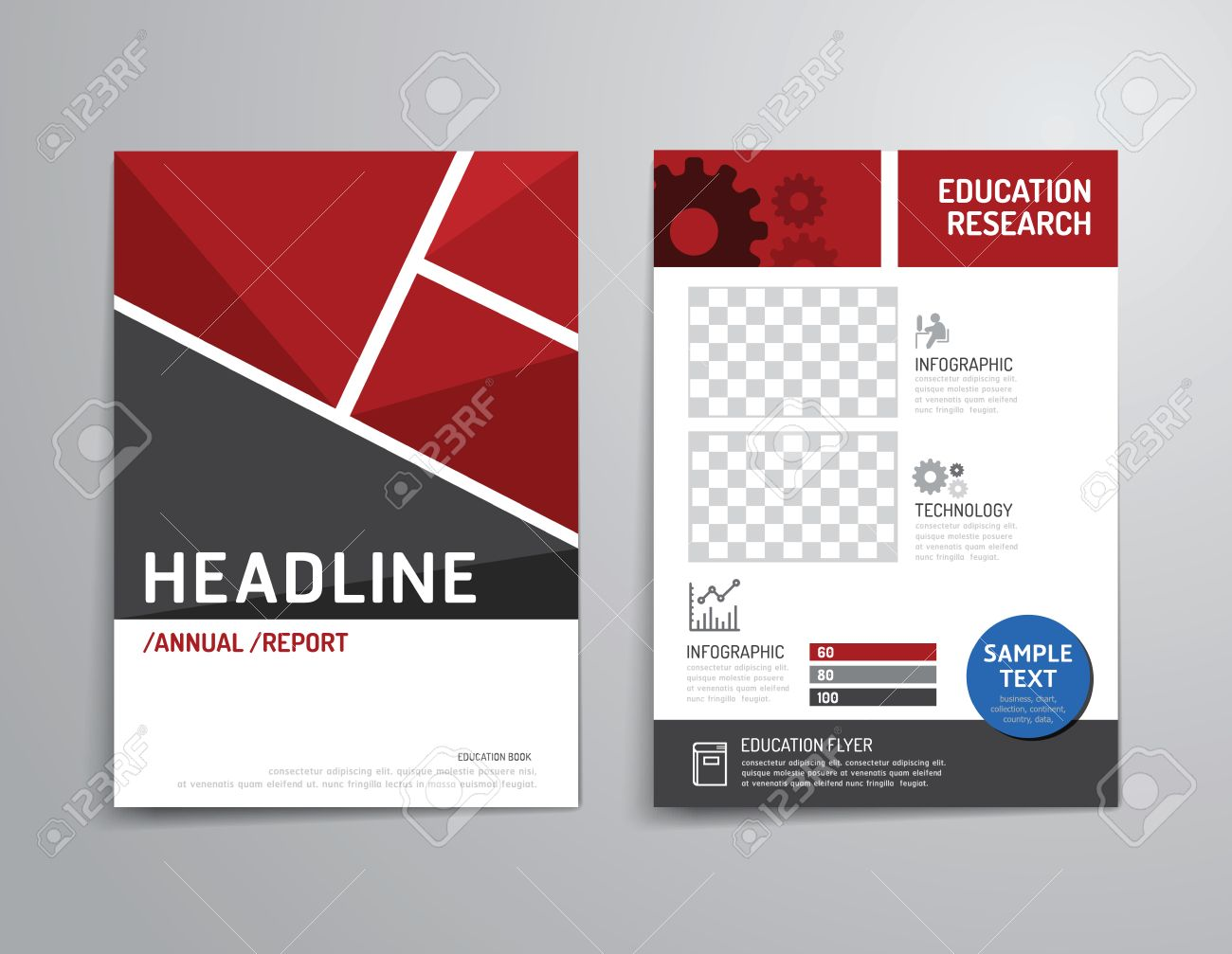 Poster design layout - Vector Brochure Flyer Magazine Cover Booklet Poster Design Template Layout Education Annual Report