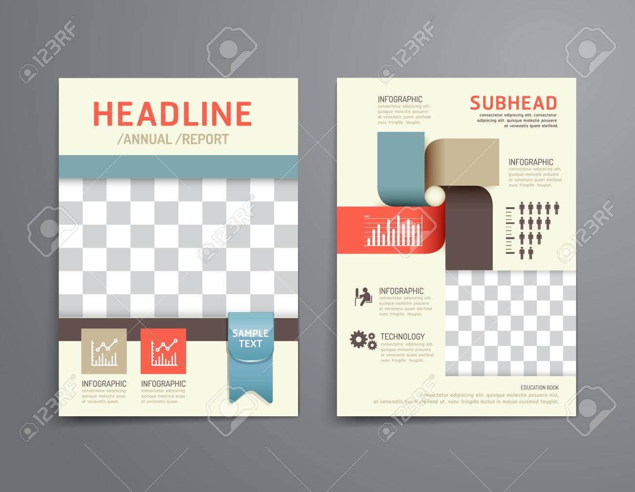 Poster design education - Vector Brochure Flyer Magazine Cover Booklet Poster Design Template Layout Soft Colour Education