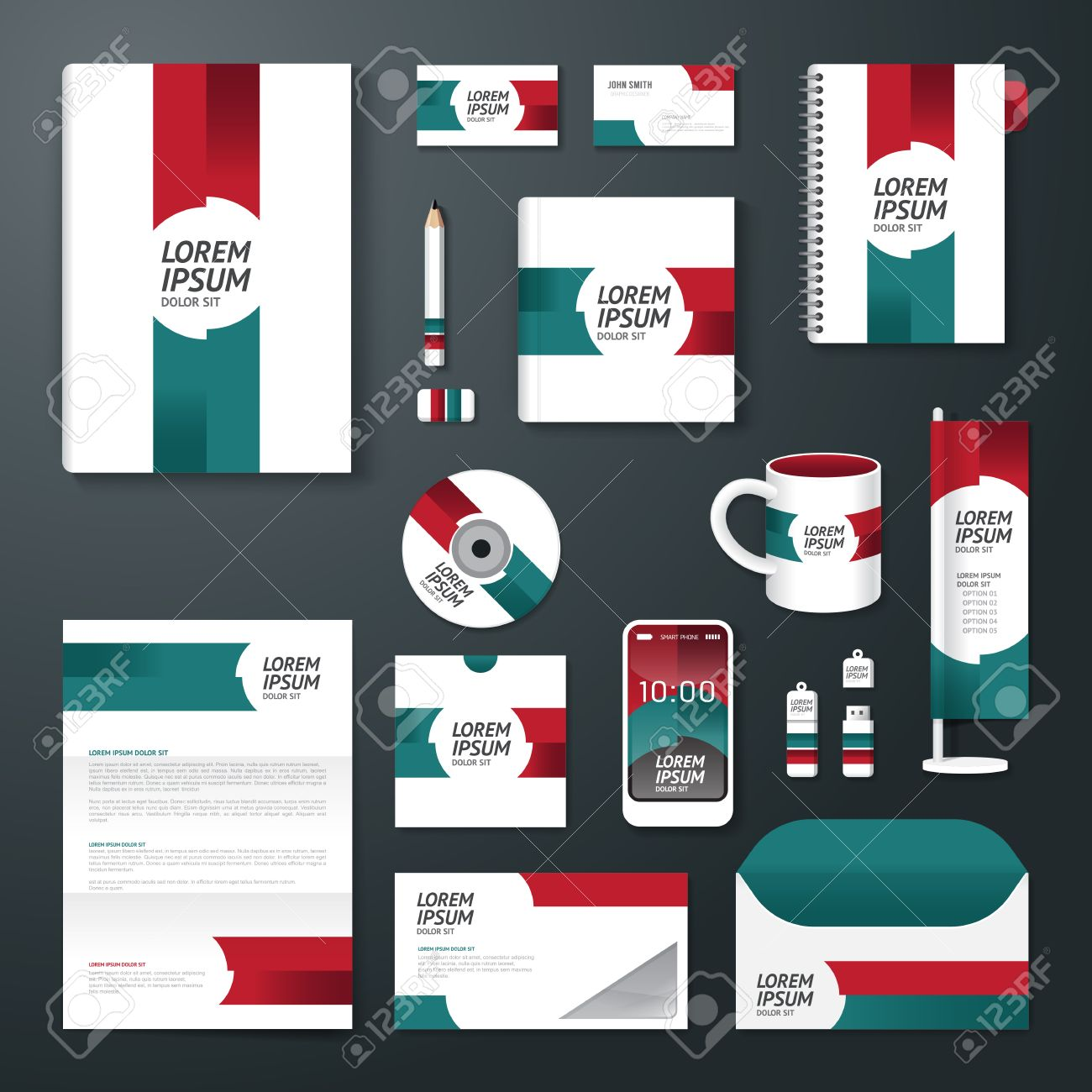 Poster design size - Vector Vector Brochure Flyer Magazine Cover Booklet Poster Design Template Layout Business Stationery Annual Report A4 Size Set Of Corporate Identity