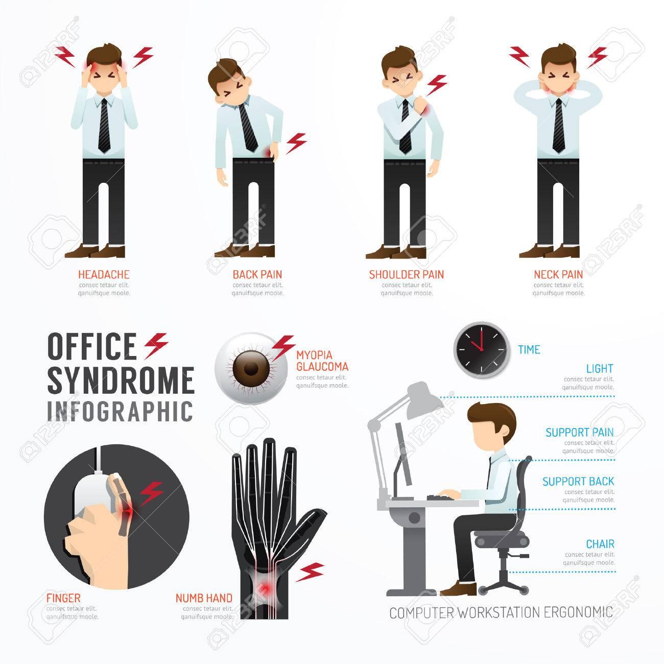 Infographic office syndrome Template Design . Concept Vector illustration Standard-Bild - 38153348