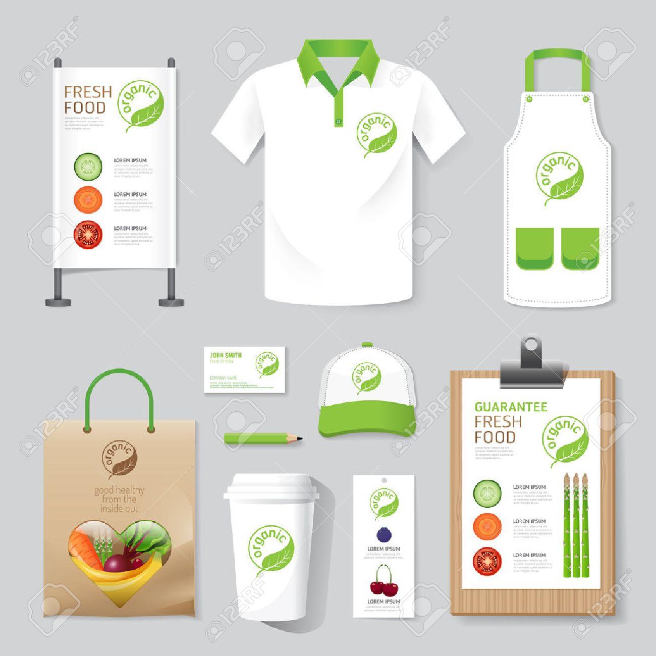 Shirt design layout - Vector Vector Health Beauty Shop Set Flyer Menu Package T Shirt Cap Uniform Design Layout Set Of Corporate Identity Mock Up Template