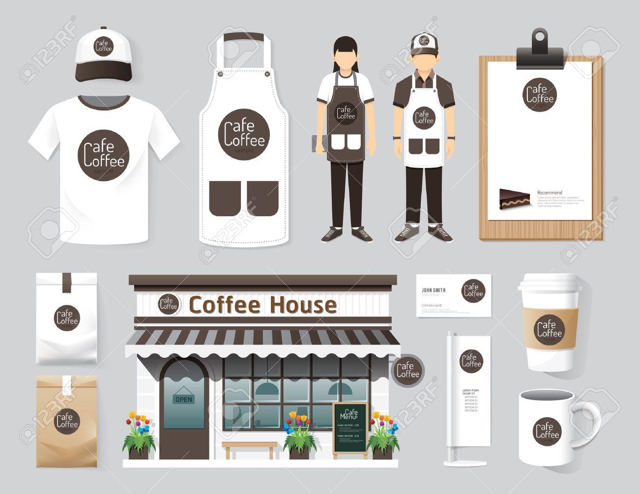 White apron mockup free - Apron Template Vector Restaurant Cafe Set Shop Front Design Flyer Menu Package