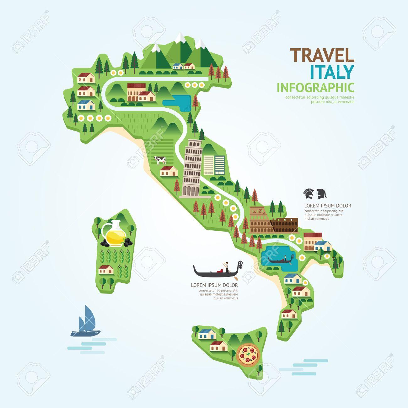 Plantilla Mapa De Italia