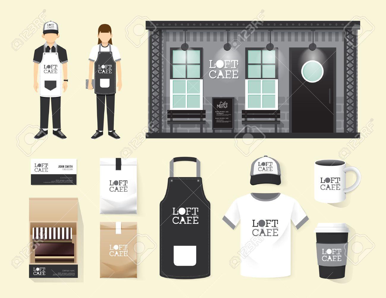 White apron mockup free - Apron Template Restaurant Cafe Set Shop Front Design Flyer Menu Package