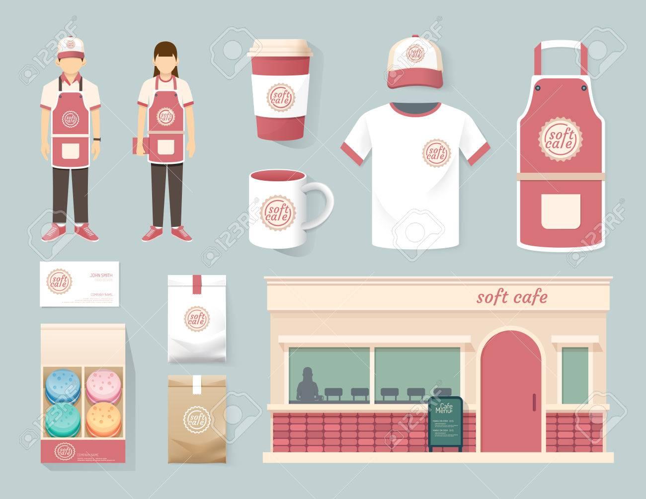 Shirt uniform design vector - Uniform Template Vector Restaurant Cafe Set Shop Front Design Flyer Menu Package