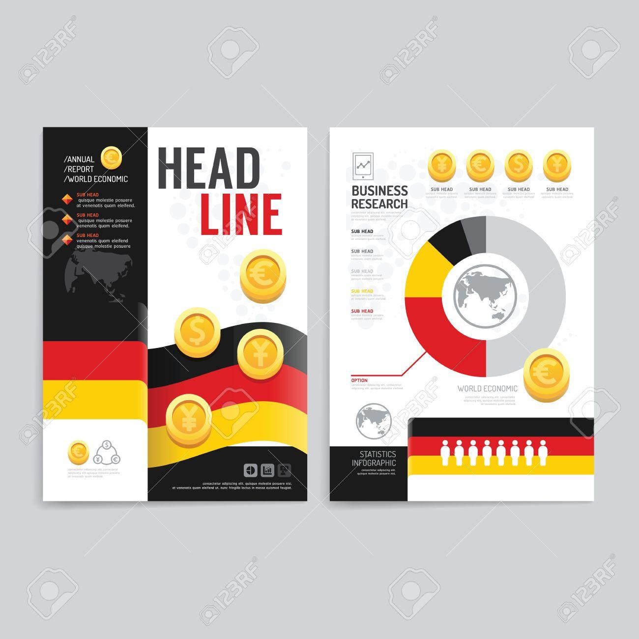 040c1225e6bb Banque d'images - Vector brochure magazine dépliant la couverture livret  conception de l'affiche template.layout affaires du monde économique  annuelle ...