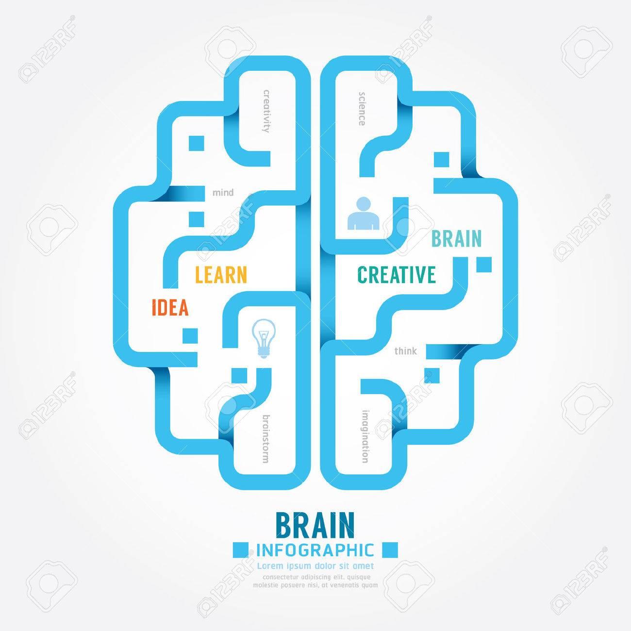 Infographics vector blue paper brain design diagram line style infographics vector blue paper brain design diagram line style template stock vector 41896970 ccuart Choice Image