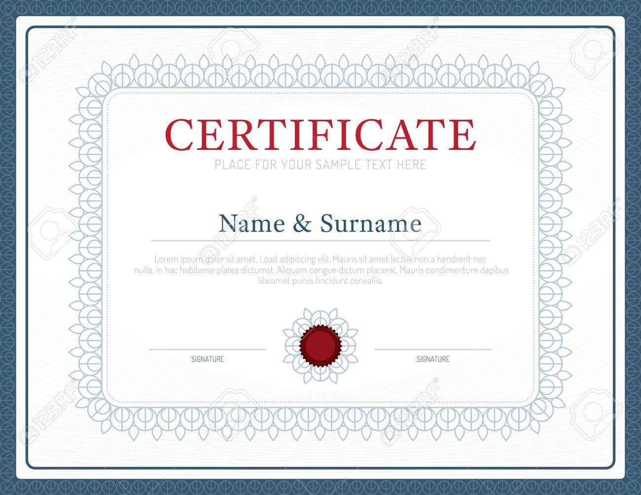 Plantilla De Certificado De Antecedentes Diseño De Diseño Del Vector ...