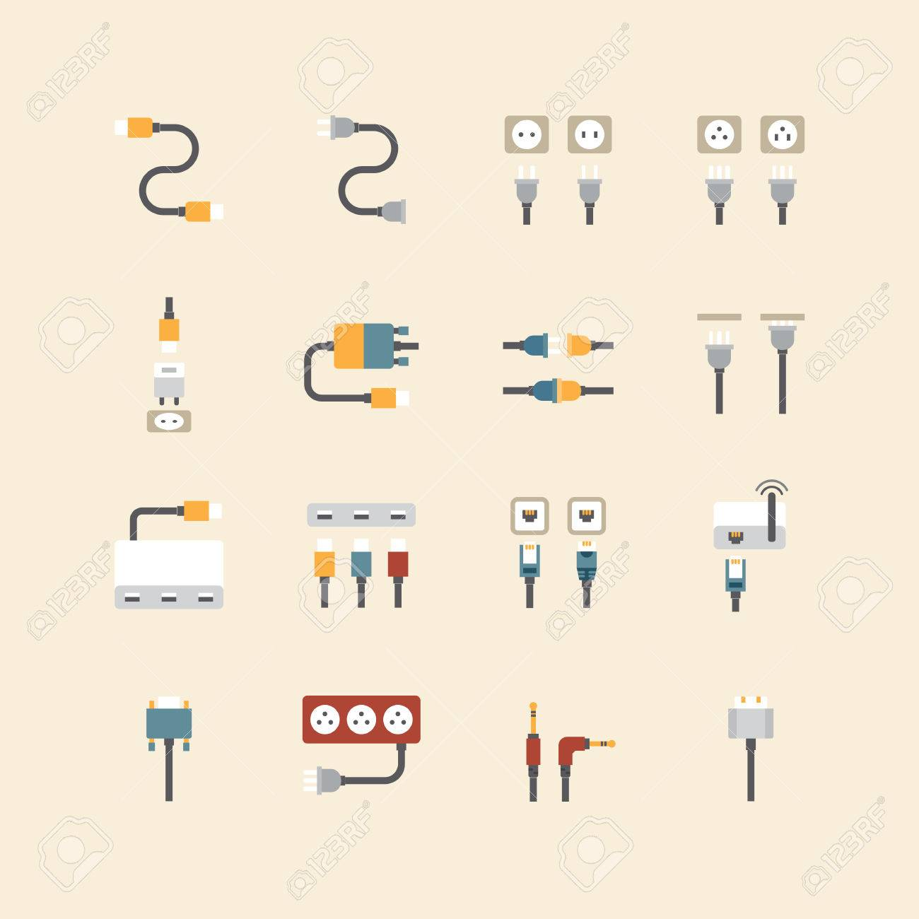 Wire Icons Set Center Aabrands A Audiopulseelectronicsawa 8300f001906awajpg Vector Linear Web Cable Computer And Electricity Rh 123rf Com Bag Icon Connection