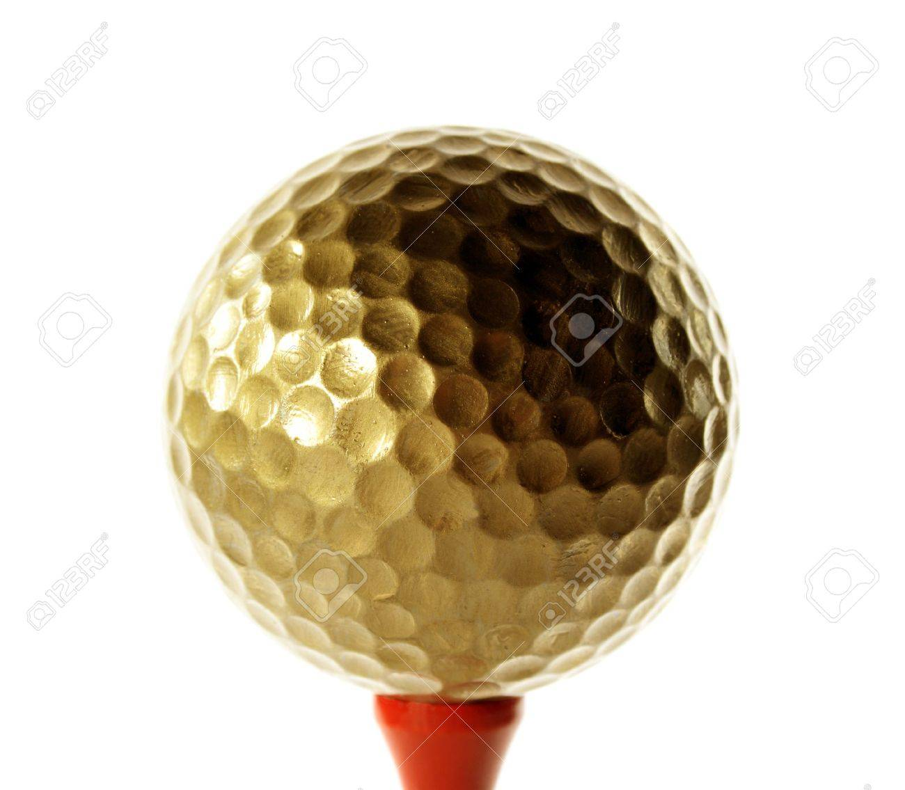 Golfball in gold for luxury play Stock Photo - 2530466