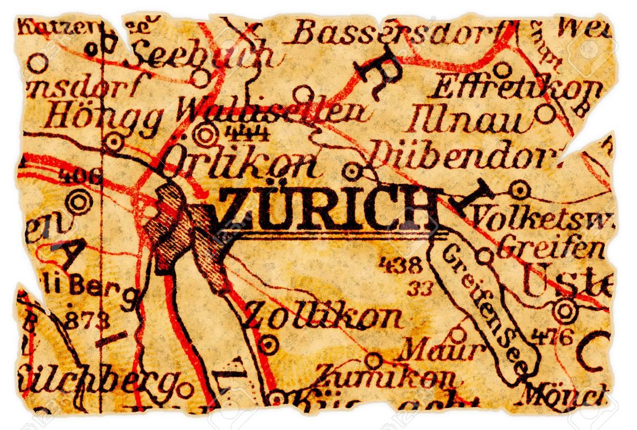Zurich Switzerland Map on