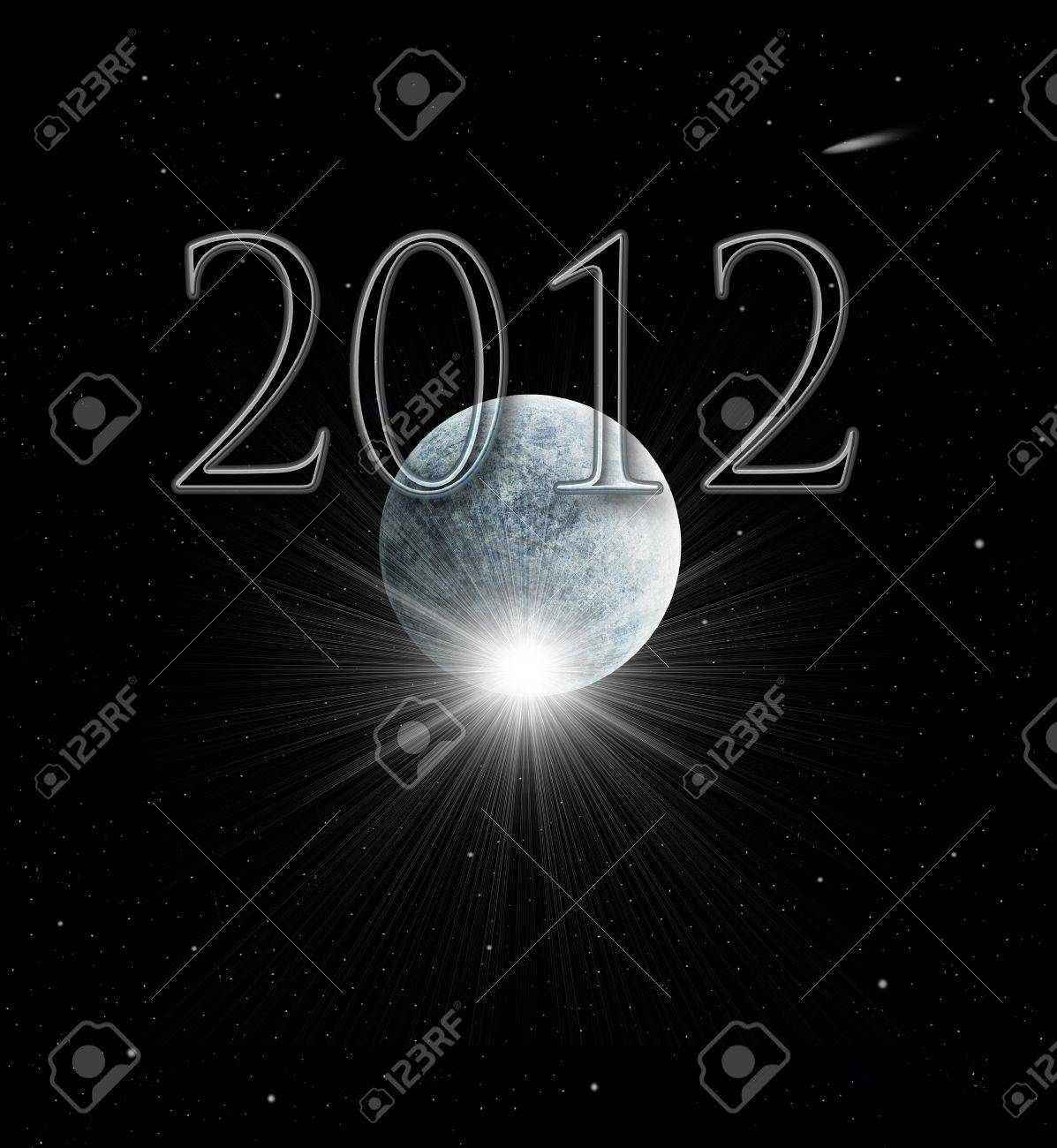Illustration of the Year 2012 in Mayan prophecy Stock Illustration - 9323759