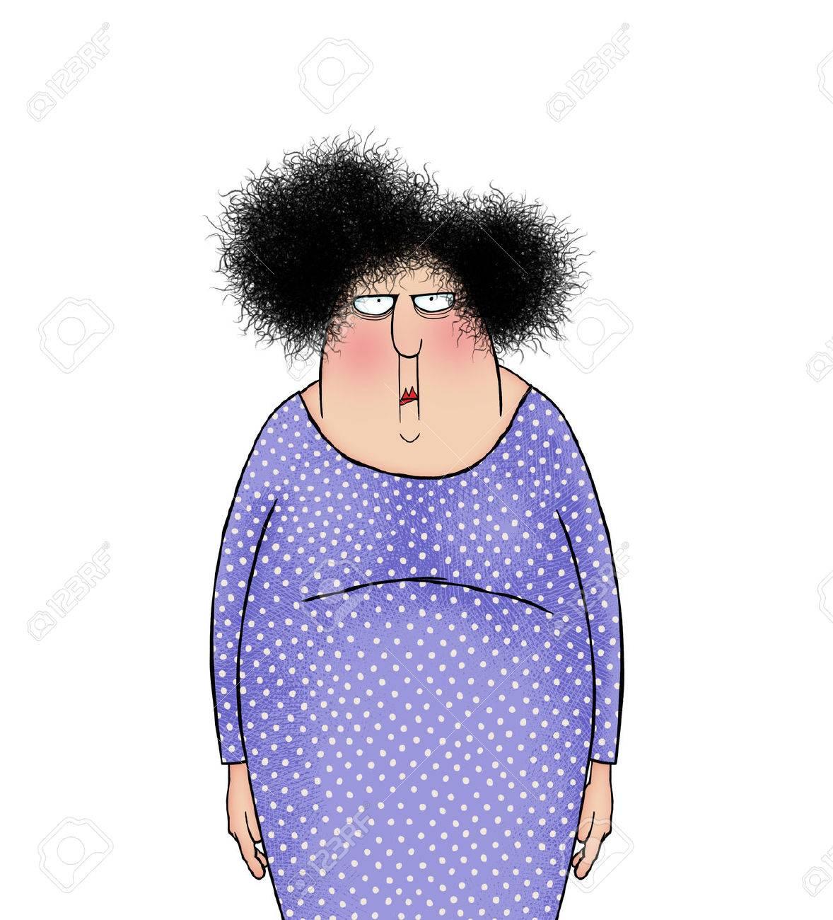 Humour Illustration D Une Femme En Colere Frustree Ou Consternee Banque D Images Et Photos Libres De Droits Image 81700876