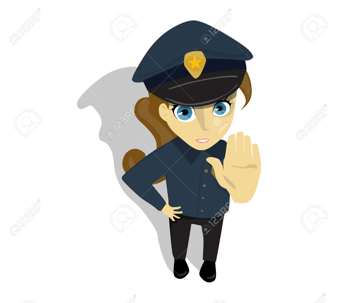 Woman Police Officer Stock Vector - 10605968