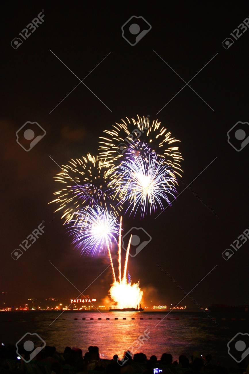 festive, fire, firework, fireworks,Pattaya Stock Photo - 11729803