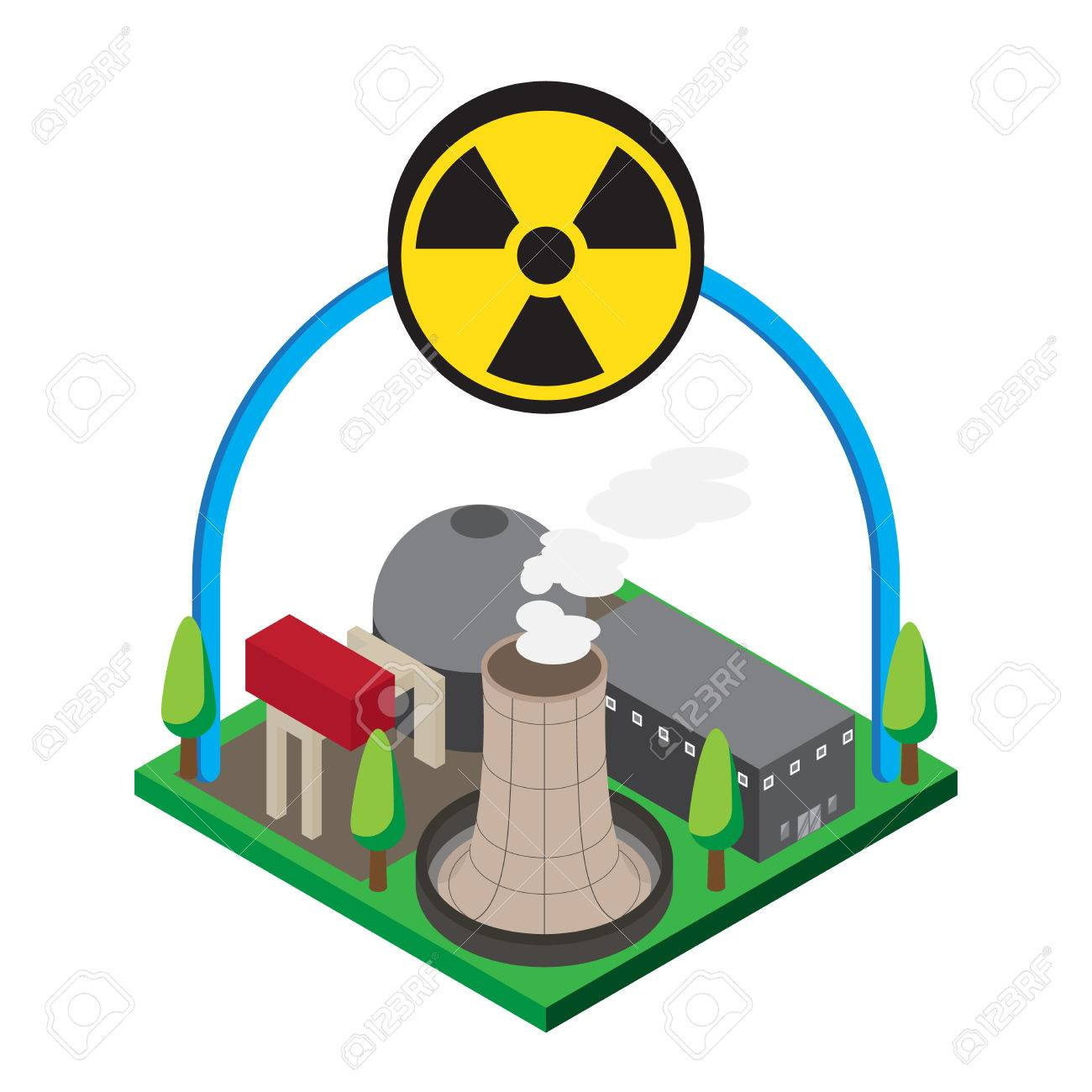 isometric of nuclear power plants vector illustration royalty rh 123rf com thermal power plant clip art nuclear power plant clip art