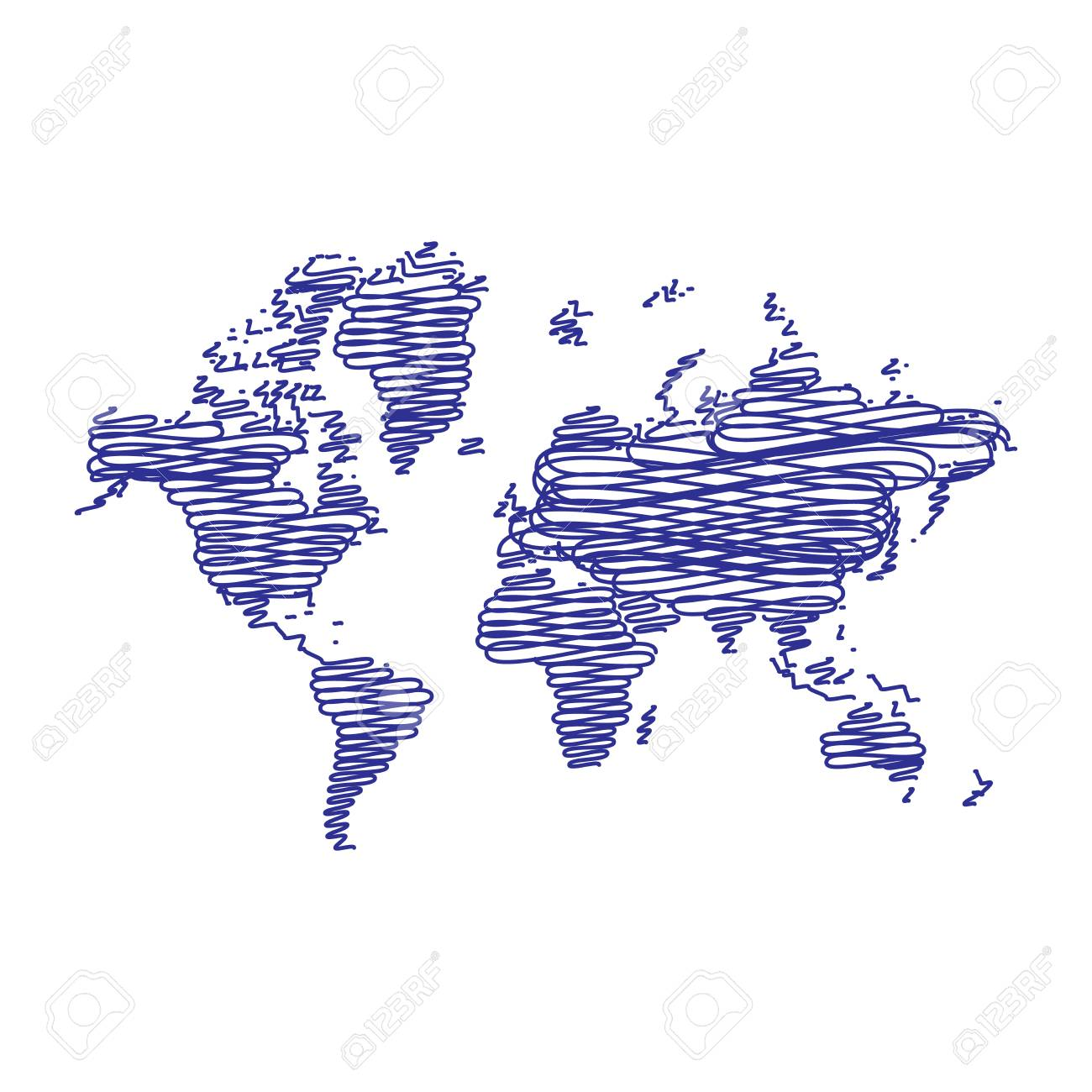 Pen art sketch drawing world map for web and mobile app pen art sketch drawing world map for web and mobile app illustration gumiabroncs Gallery
