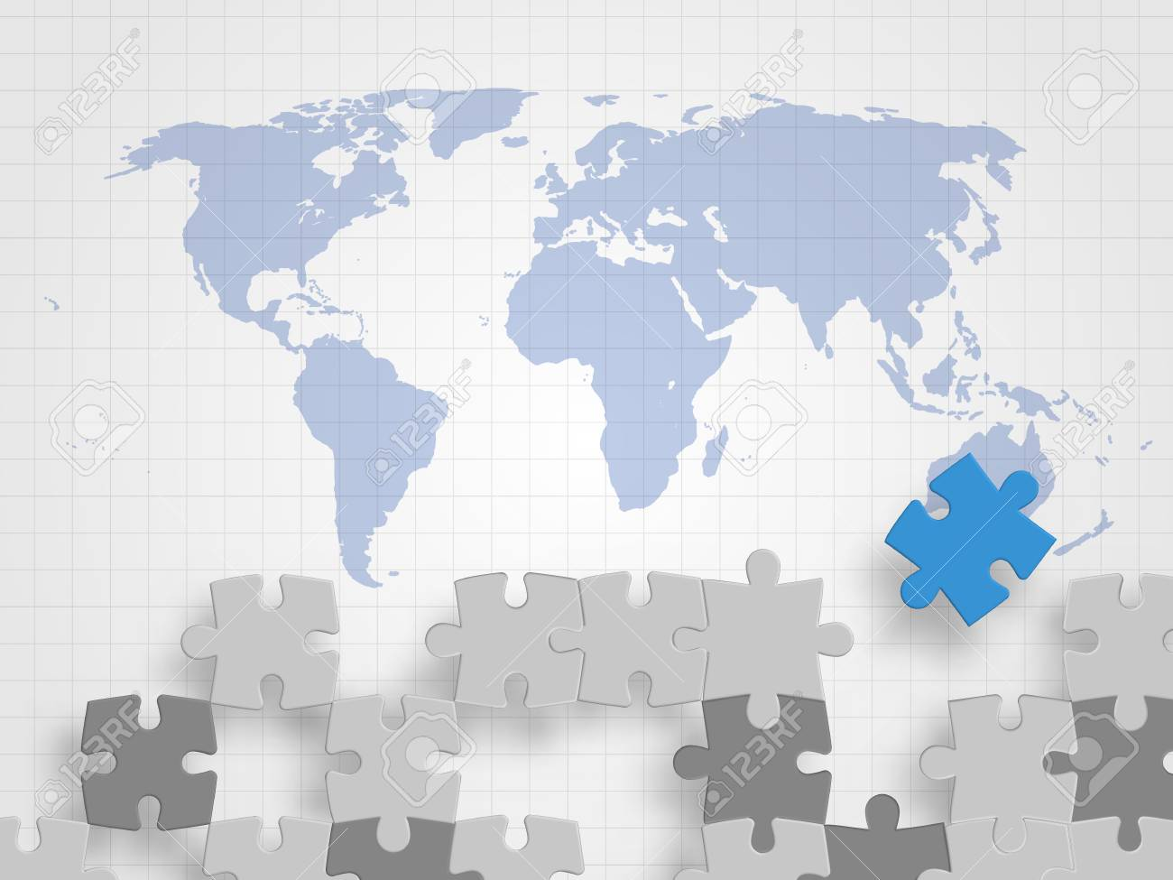 Puzzle pieces on a world map grid background royalty free cliparts puzzle pieces on a world map grid background stock vector 97227935 gumiabroncs Image collections