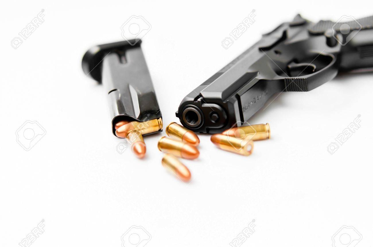 Hand gun and magazine Stock Photo - 11983787
