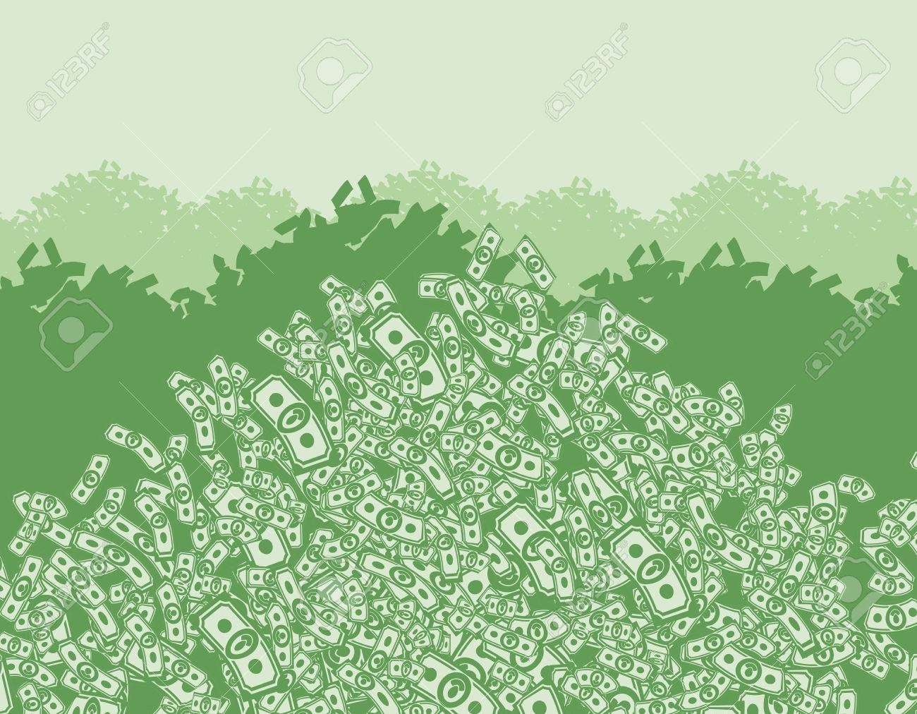 mountain of money, lots of money, wealth, bunch money, money background from dollars - 36514331