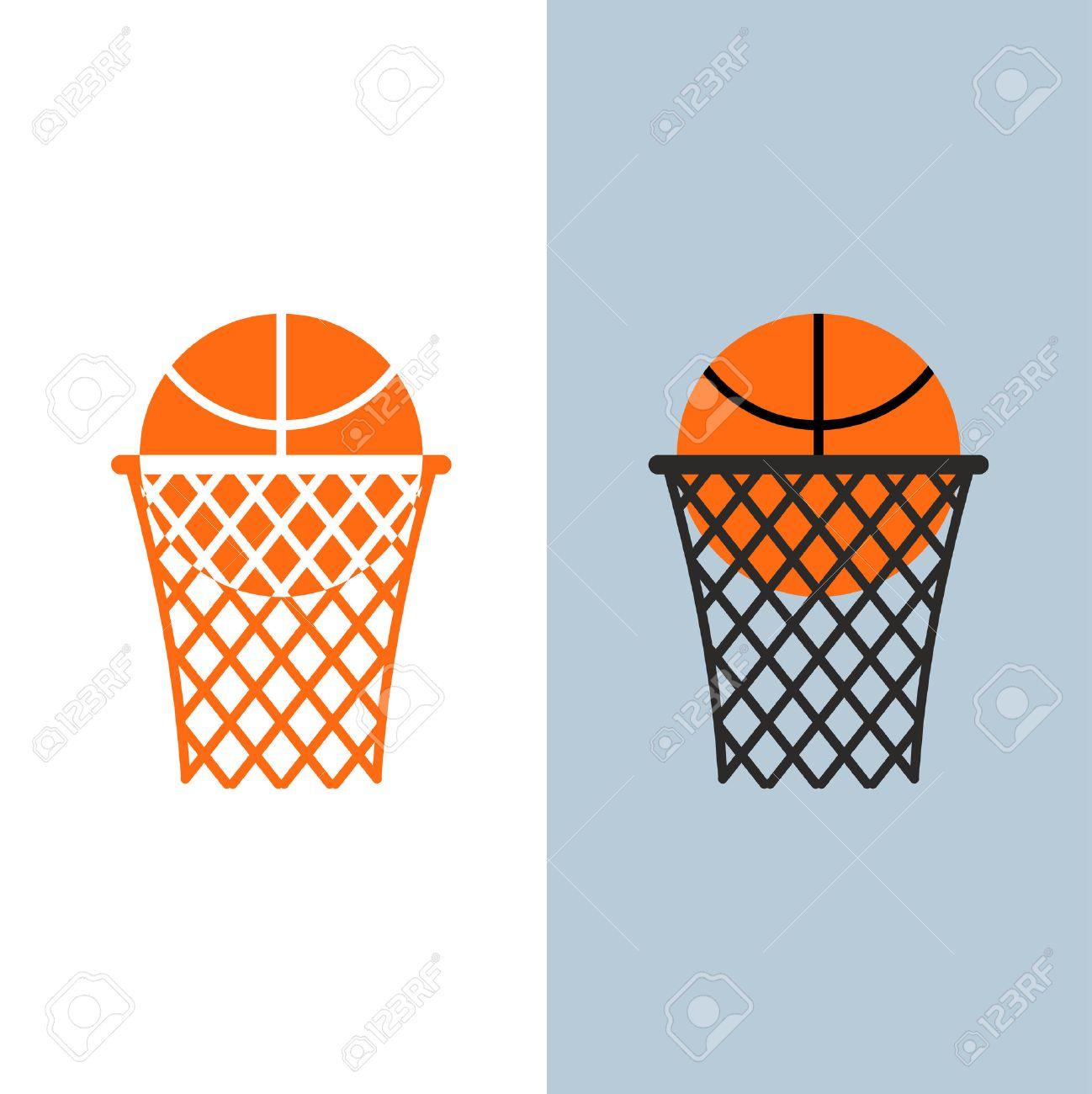 Basketball logo. Ball and net for basketball games - 39692765