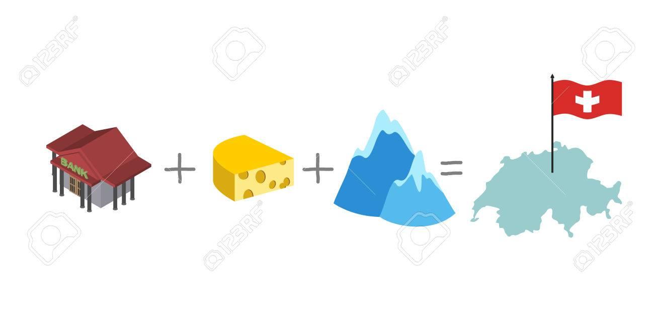 Symbols Of Switzerland Mathematical Formula Bank And Cheese