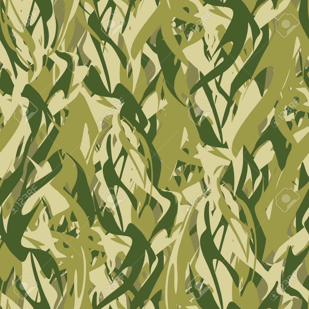 Military Texture In Form Of Fire. Camouflage Army Seamless Flames ...