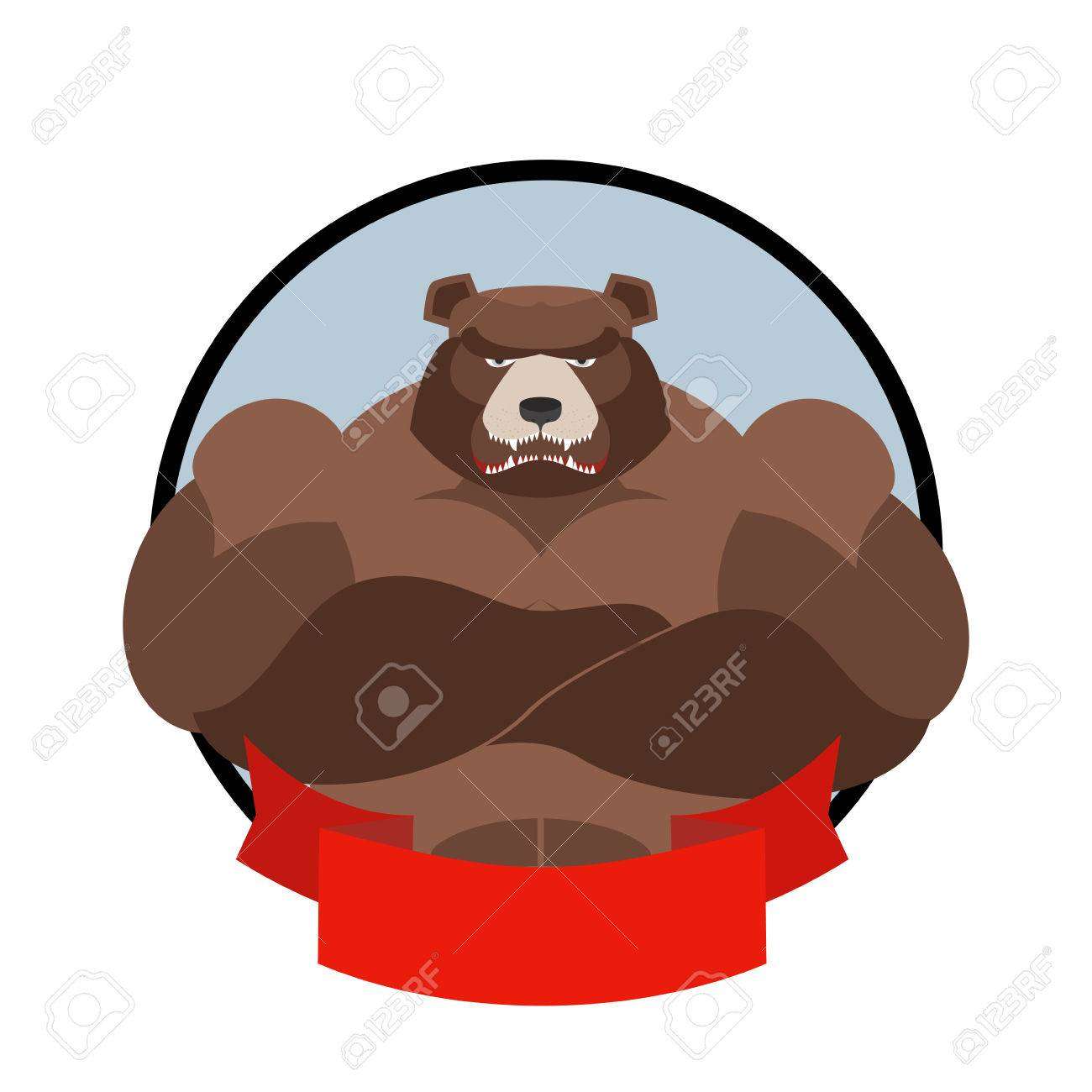strong bear logo for sports club team grizzly bear with big rh 123rf com  grizzly bear logo images