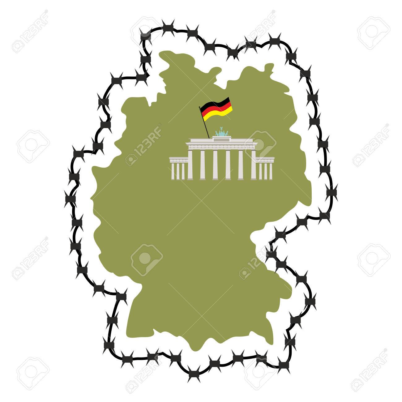 Map Of Germany Map Of States With Barbed Wire Country Closes