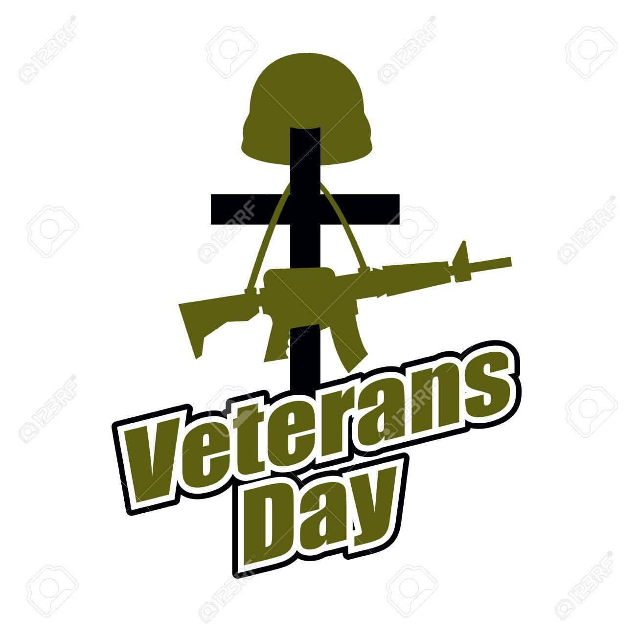 Cross and military helmet with gun veterans day logo for cross and military helmet with gun veterans day logo for national holiday in america biocorpaavc