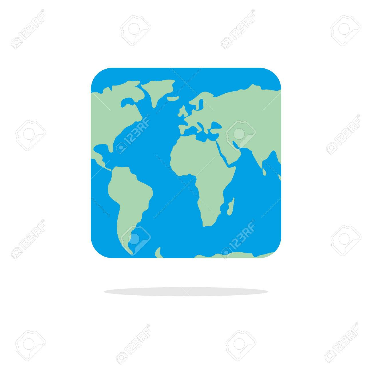Square Earth Map.Square World Map Atlas Of Unusual Shape Square Earth Earth