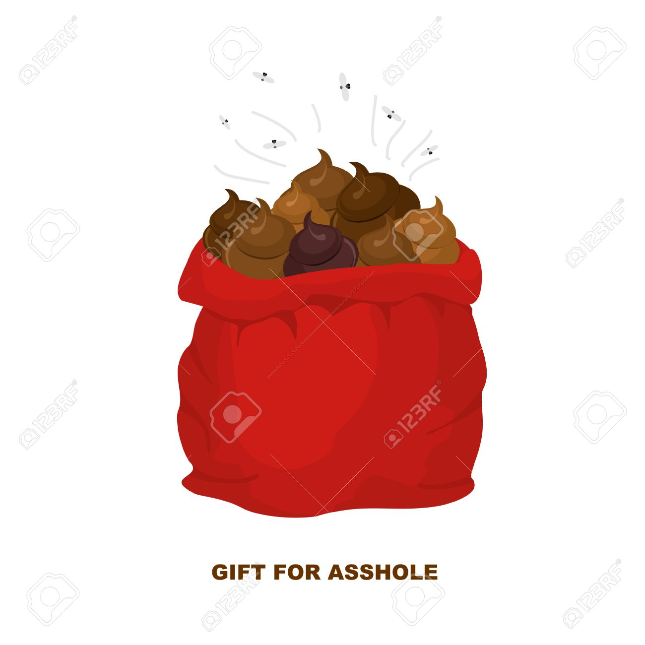 Christmas Gifts For Bad People. Santa Claus With Bag Of Shit ...