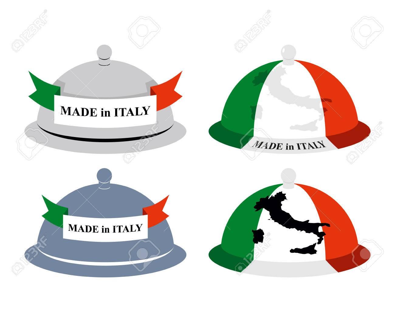 Set Küche Cloche Italienisch. Abdeckung Für Warme Gerichte Mit Karte ...