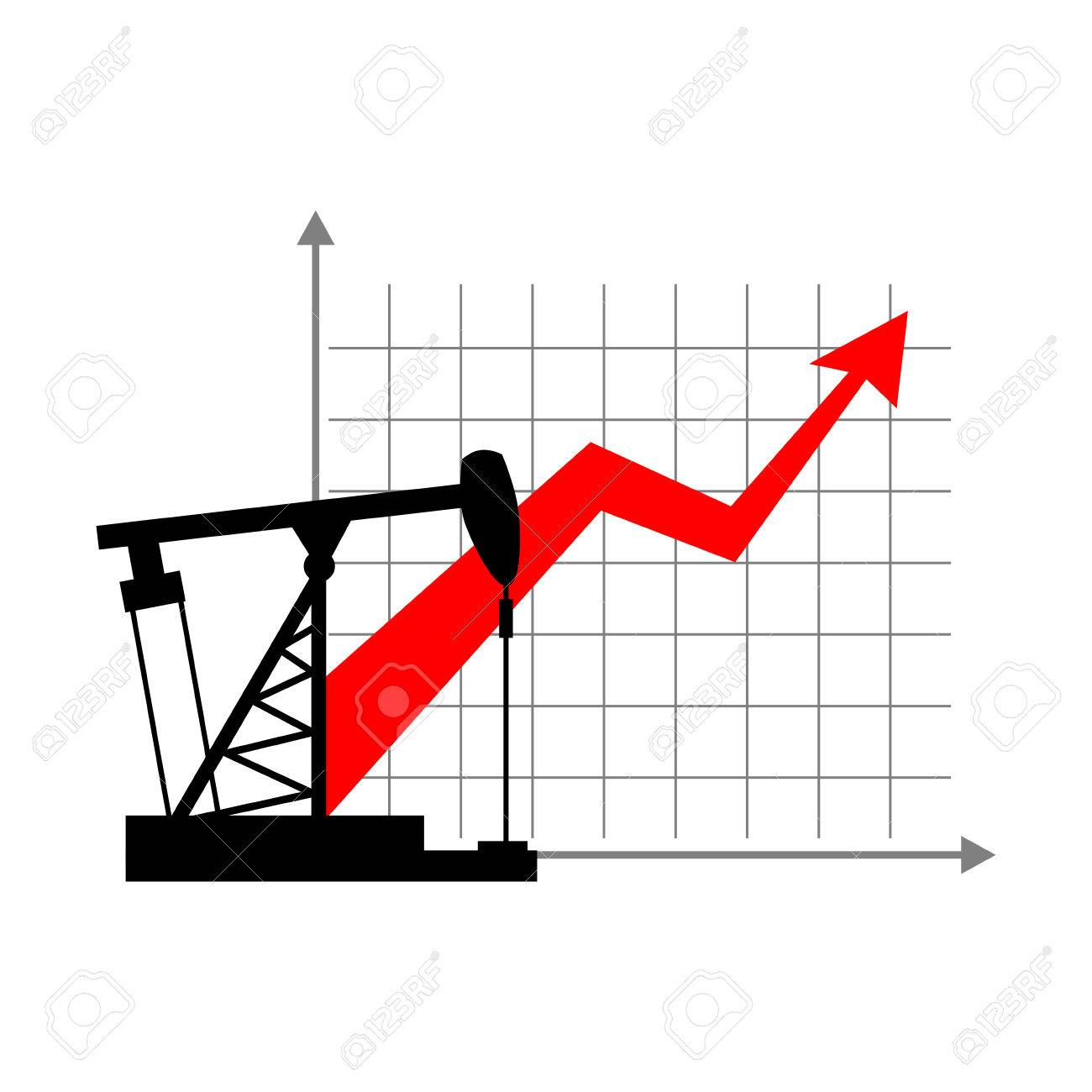 Graphic Growth And Oil Rig Oil Quotations Grow Up Info Graphic