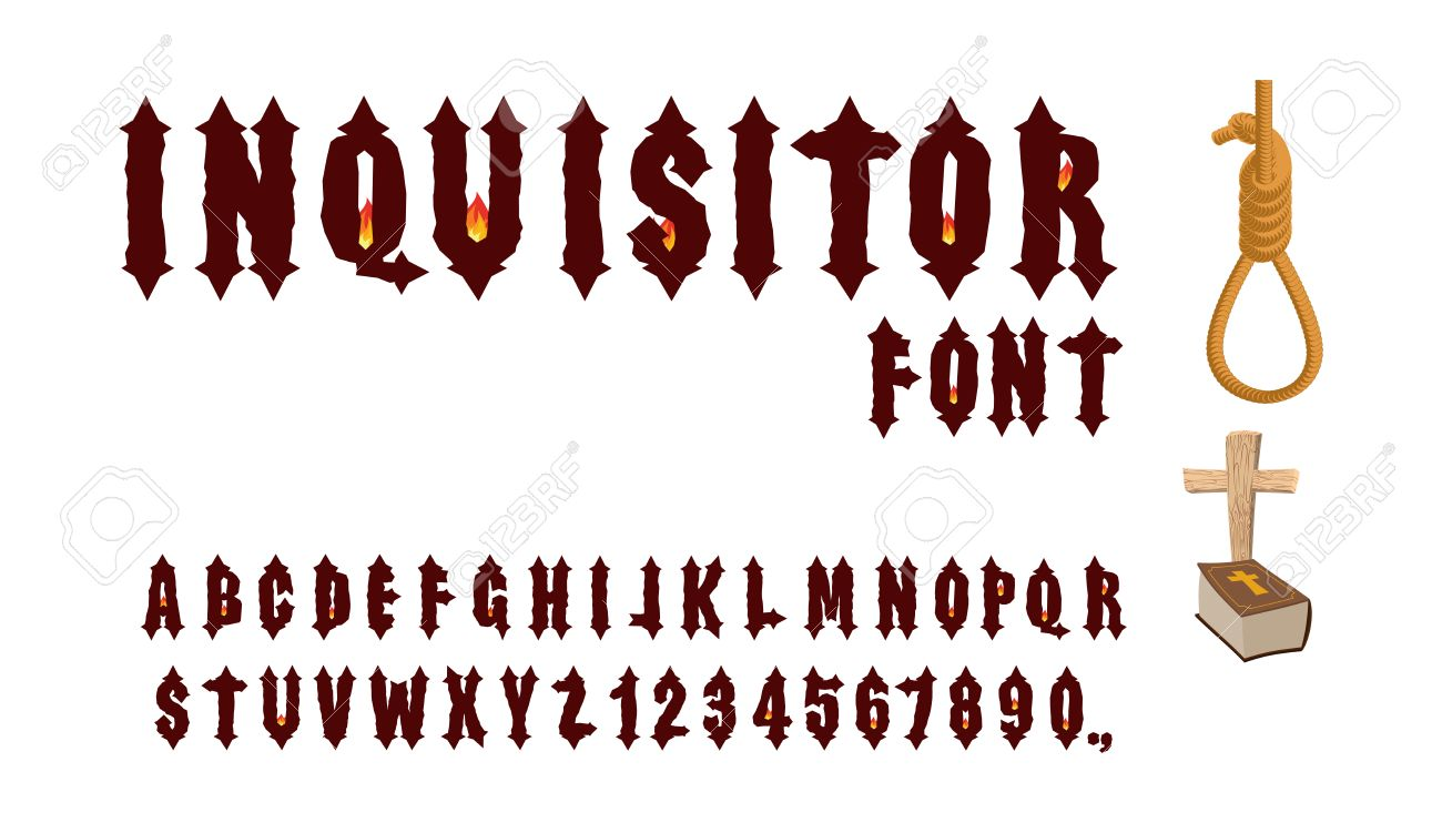Inquisitor Font Ancient Gothic For Holy Inquisition Medieval Alphabet Letters