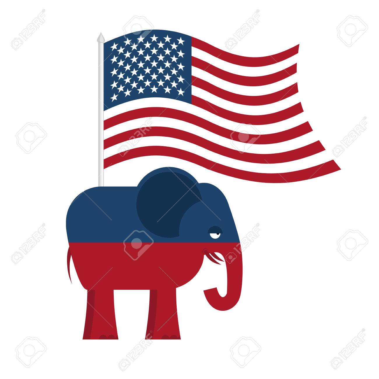 Republican Elephant Symbol Of Political Party In America Political