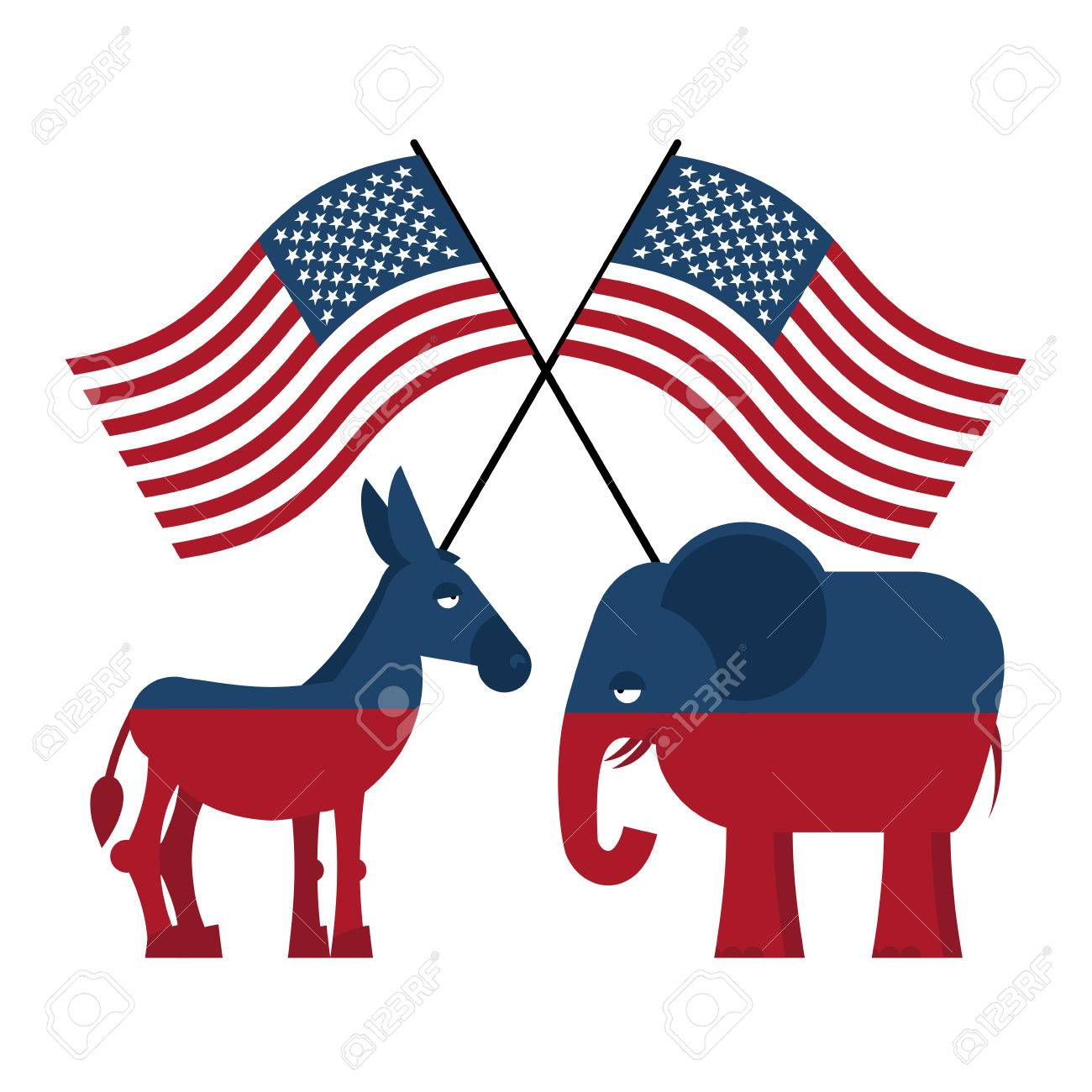 Elephant and donkey symbols of democrats and republicans symbols of democrats and republicans political parties in united states biocorpaavc Images