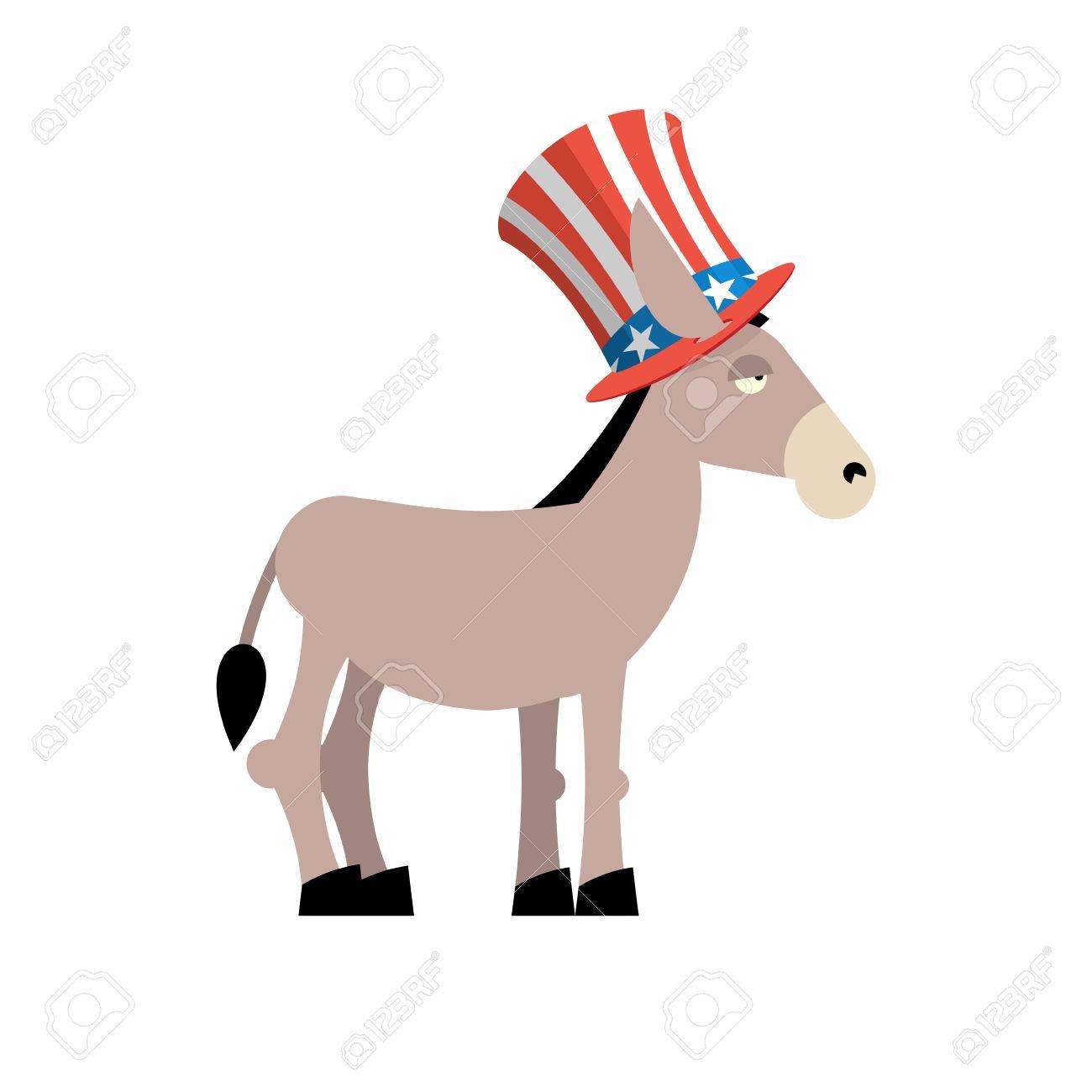 Donkey democrat donkey in uncle sam hat symbol of political donkey democrat donkey in uncle sam hat symbol of political party in america biocorpaavc Image collections
