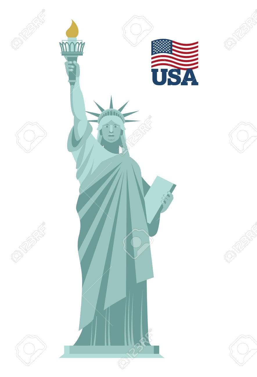 Statue Of Liberty In Usa National Symbol Of America State