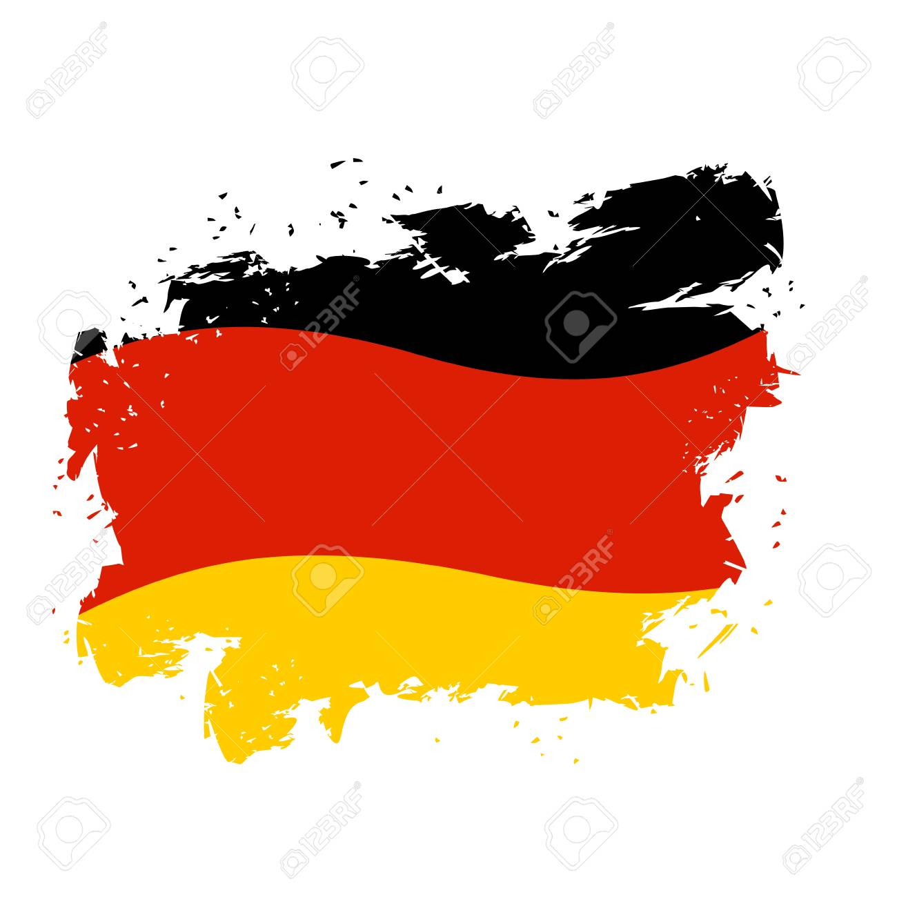 Germany Flag Grunge Style On White Background Brush Strokes Royalty Free Cliparts Vectors And Stock Illustration Image 57175402